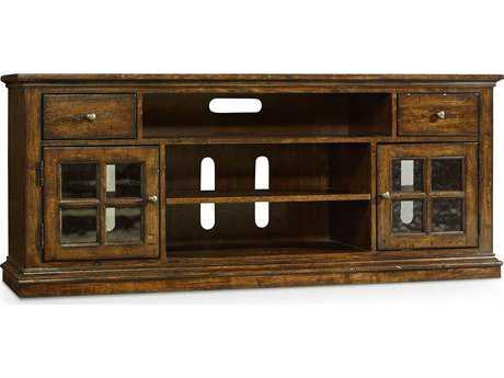 Hooker Furniture Brantley Dark Oak 66''L x 19''W Rectangular Entertainment Console