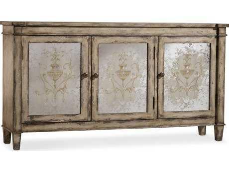Hooker Furniture Light Wood 64''L x 14'W Rectangular Mirrored Buffet
