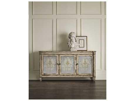 Hooker Furniture Light Wood 64u0027u0027L X 14u0027W Rectangular Mirrored Buffet