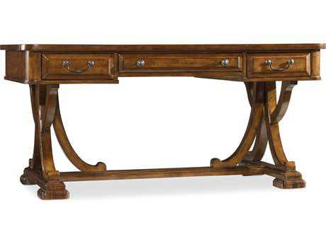 Hooker Furniture Tynecastle Medium Wood 64''L x 34''W Rectangular Writing Desk