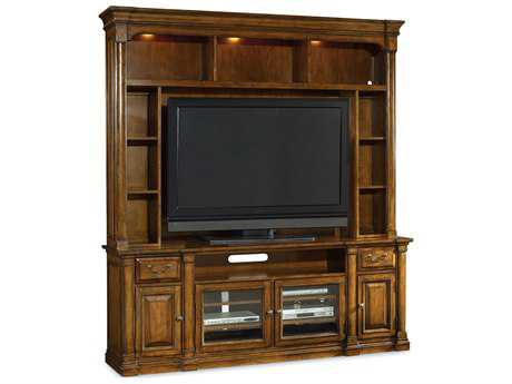 Hooker Furniture Tynecastle Medium Wood 85''L x 21''W Entertainment Center