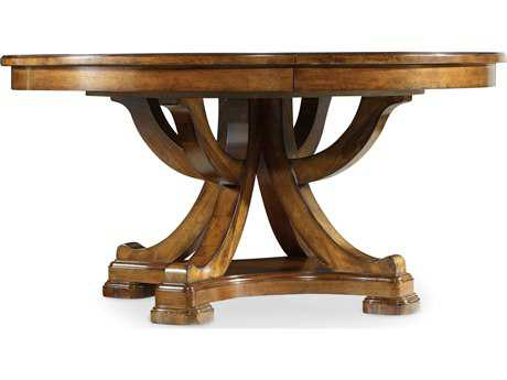 Hooker Furniture Tynecastle Medium Wood 60'' Wide Round Pedestal Dining Table