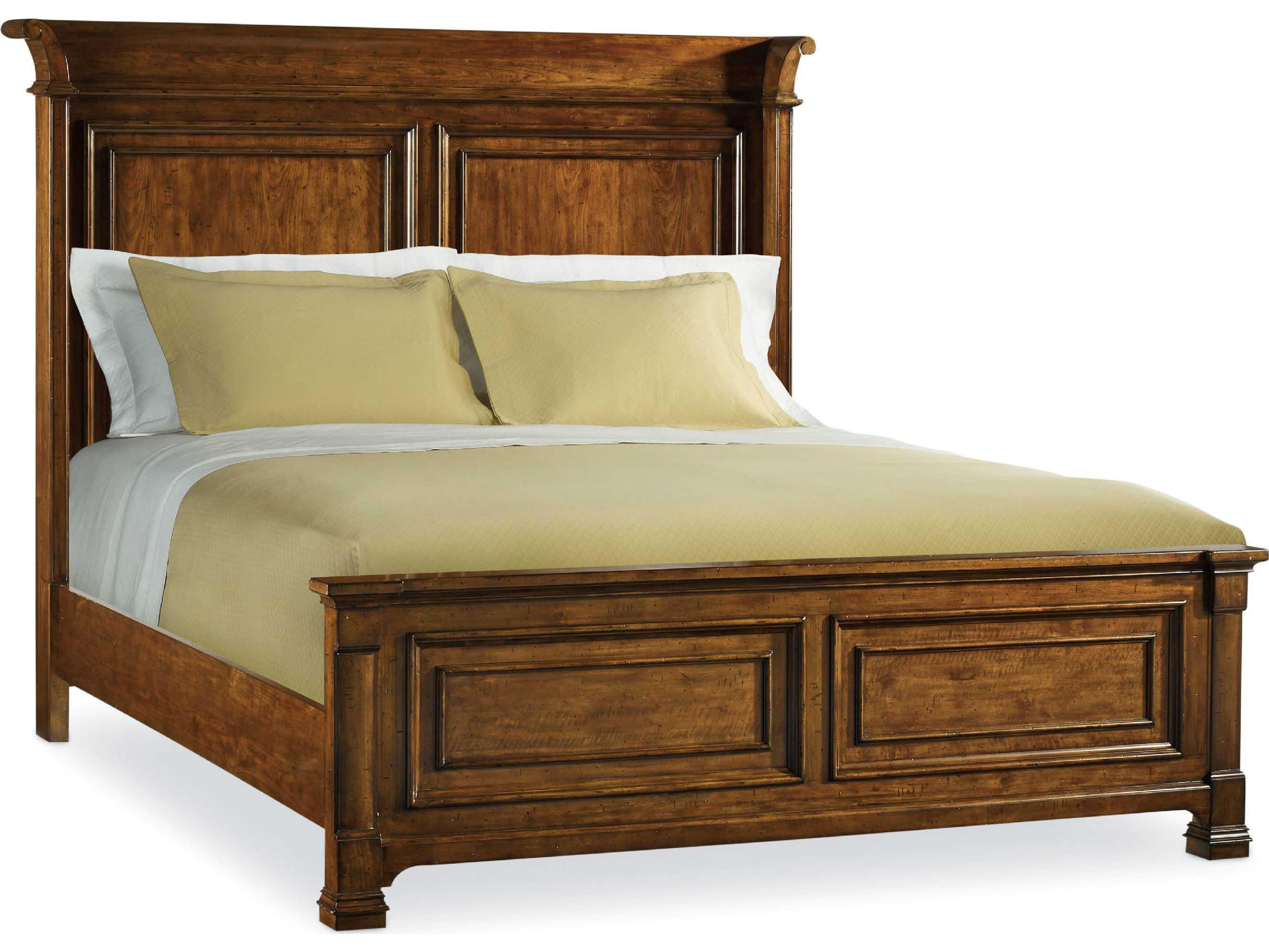 Hooker Furniture Tynecastle Medium Wood Queen Size Panel Bed Hoo532390250