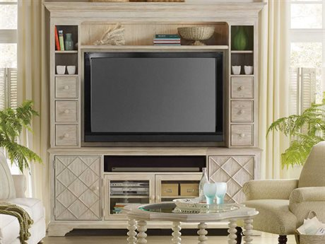 Hooker Furniture Sunset Point White, Cream & Beige 83''L x 21''W Entertainment Center