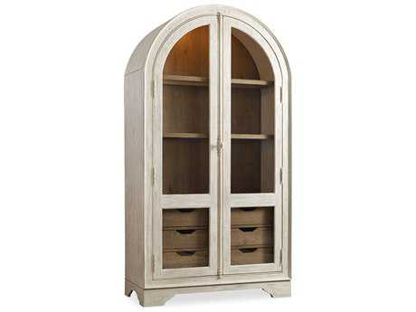 Hooker Furniture Sunset Point White, Cream & Beige Display China Cabinet