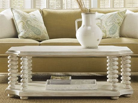 Hooker Furniture Sunset Point Whites, Creams & Beige 50''L x 28''W Rectangular Cocktail Table