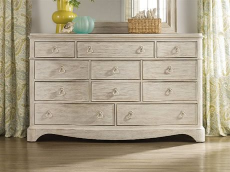 Hooker Furniture Sunset Point White, Cream & Beige Triple Dresser