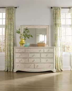 Hooker Furniture Sunset Point White, Cream & Beige Triple Dresser & Mirror Set