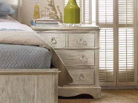 Hooker Furniture Sunset Point White, Cream & Beige 30''W x 18''D Rectangular Nightstand