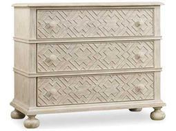 Hooker Furniture Sunset Point White, Cream & Beige 38''W x 19''D Rectangular Bachelor Chest Nightstand