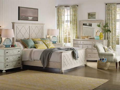 Hooker Furniture Sunset Point Wood Panel Bed Bedroom Set
