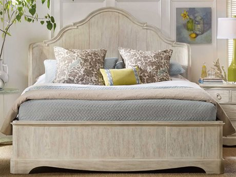 Hooker Furniture Sunset Point White, Cream & Beige California King Size Shelter Panel Bed