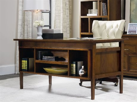 Hooker Furniture Viewpoint Medium Wood 64''L x 30''W Rectangular Writing Desk