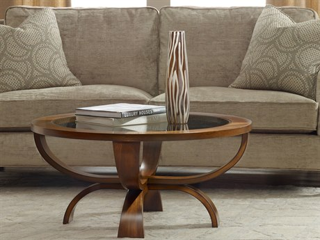 Hooker Furniture Viewpoint Medium Brown 38'' Wide Round Cocktail Table