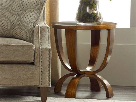 Hooker Furniture Viewpoint Medium Brown 22'' Wide Round End Table