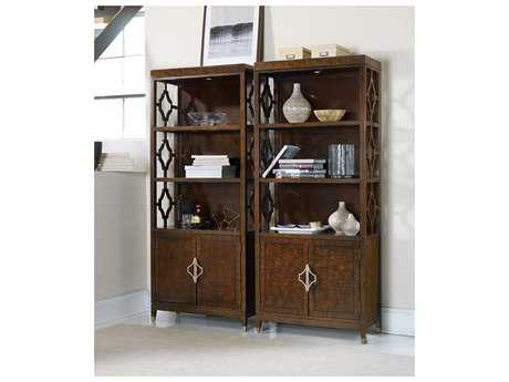 Hooker Furniture Skyline Dark Cathedral Cherry Bunching Bookcase