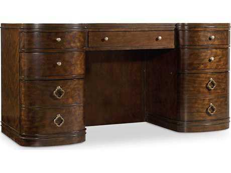Hooker Furniture Skyline Dark Cathedral Cherry 64''L x 28''W Rectangular Executive Desk