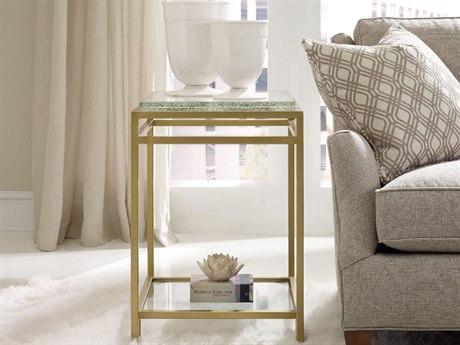 Hooker Furniture Skyline Gold 22''L x 19''W Rectangular Floating Shelf Accent End Table