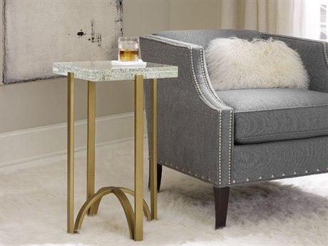 Hooker Furniture Skyline Gold 15''L x 17''W Rectangular Martini End Table