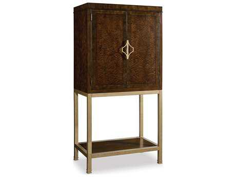 Hooker Furniture Skyline Dark Cathedral Cherry Bar Cabinet