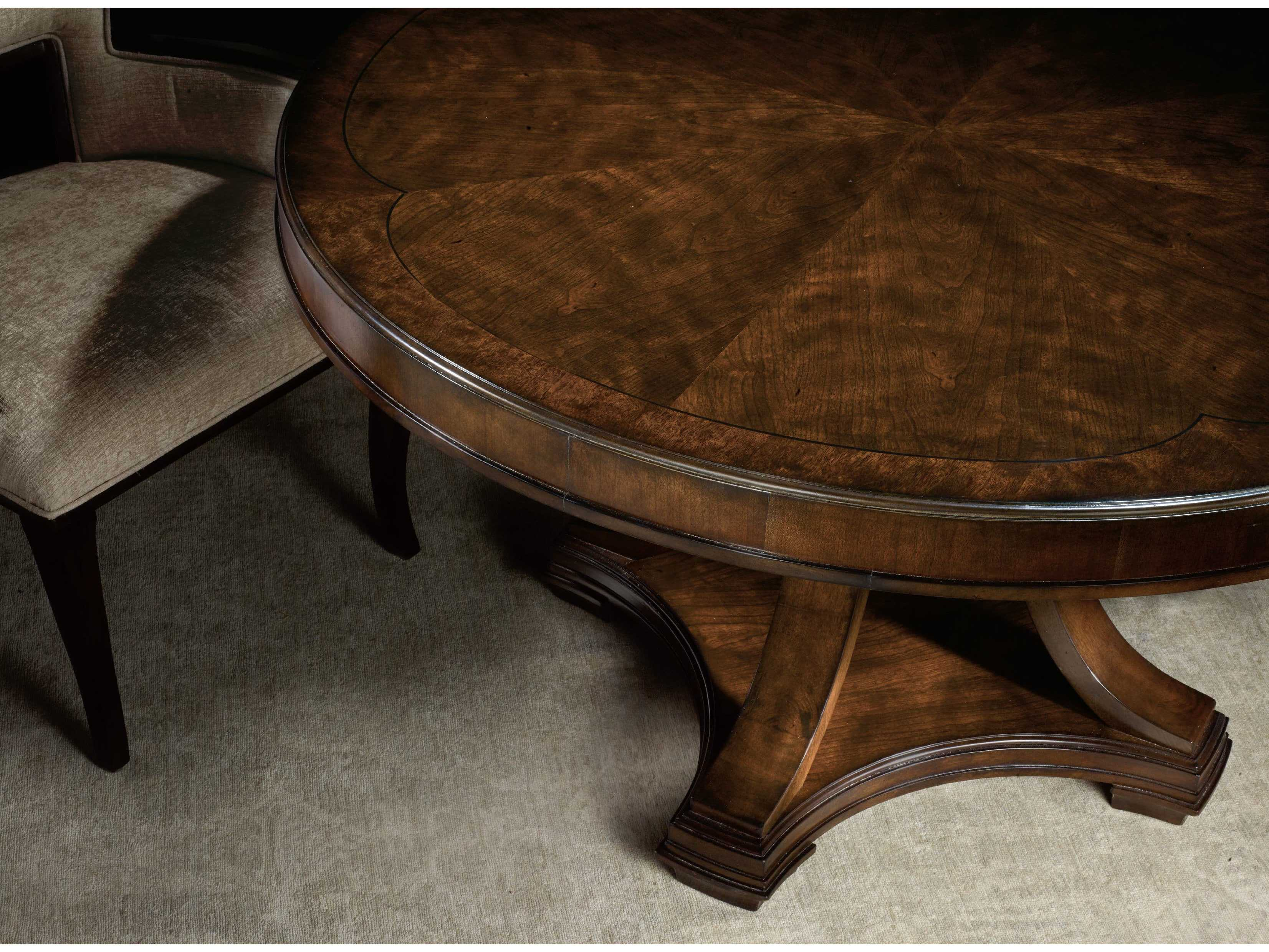 Hooker Furniture Skyline Dark Cathedral Cherry 54 Wide Round