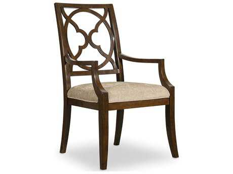 Hooker Furniture Skyline Fretback Dark Cathedral Cherry Dining Arm Chair