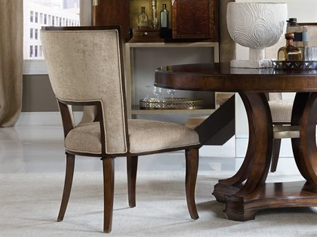Hooker Furniture Skyline Dark Cathedral Cherry Dining Side Chair