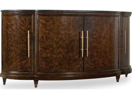 Hooker Furniture Skyline Dark Cathedral Cherry 70''L x 20''W Demilune Server