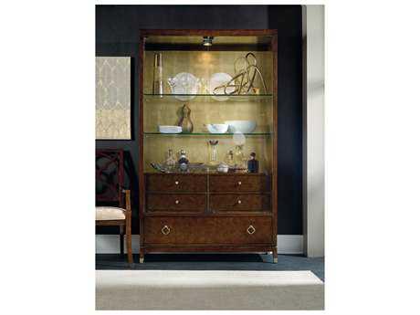 Hooker Furniture Skyline Dark Cathedral Cherry Display China Cabinet