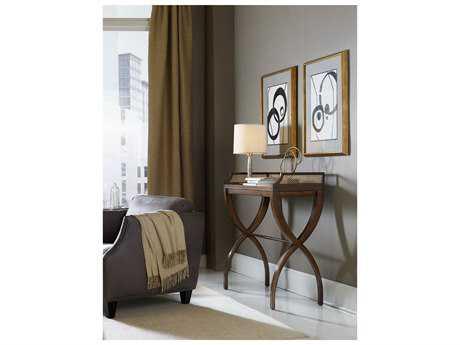 Hooker Furniture Skyline Dark Wood 40''L x 17''W Rectangular Console Table