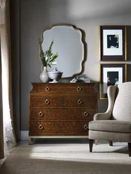 Hooker Furniture Skyline Dark Cathedral Cherry Bureau Single Dresser & Mirror Set