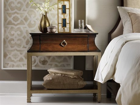 Hooker Furniture Skyline Dark Cathedral Cherry 34''W x 19''D Rectangular Nightstand