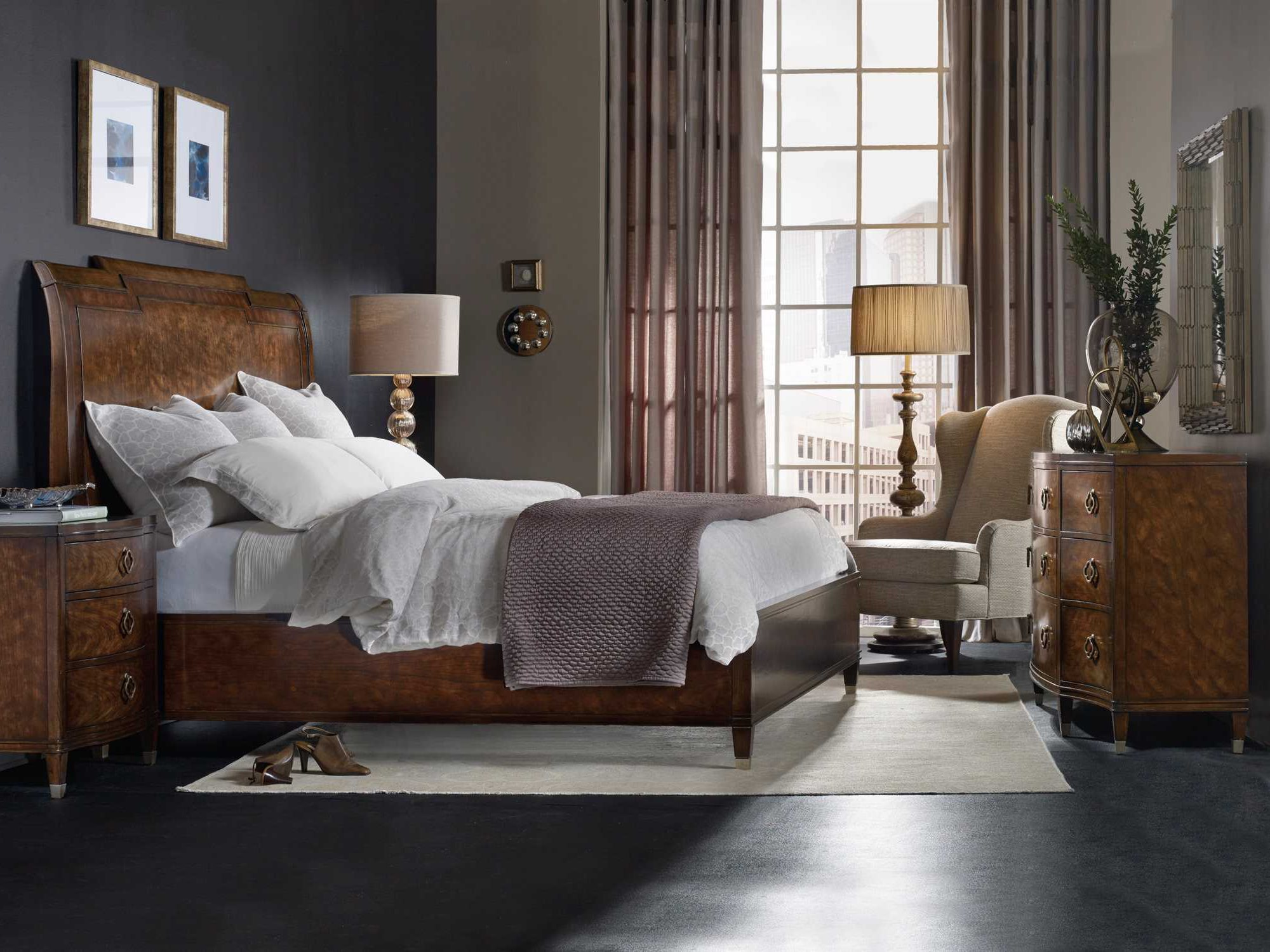 bedroom number with sleigh reflections vaughan king products b item bed storage bassett sets headboard