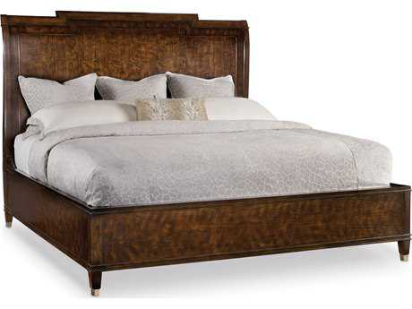 Hooker Furniture Skyline Dark Cathedral Cherry King Size Sleigh Bed
