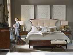 Hooker Furniture Skyline Upholstered Panel Bed Bedroom Set