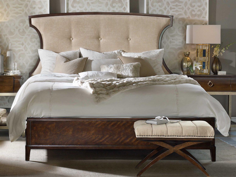 Hooker Furniture Skyline Upholstered Panel Bed Bedroom Set Hoo533690850set