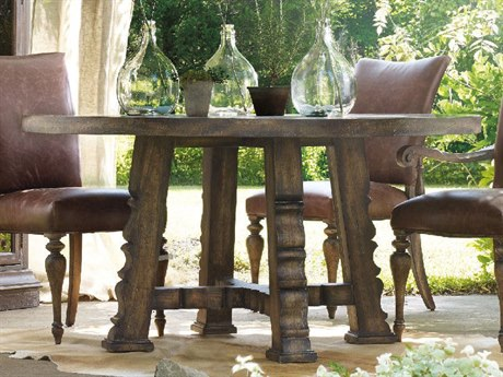 Hooker Furniture Willow Bend Dark Wood 60'' Wide Round Dining Table