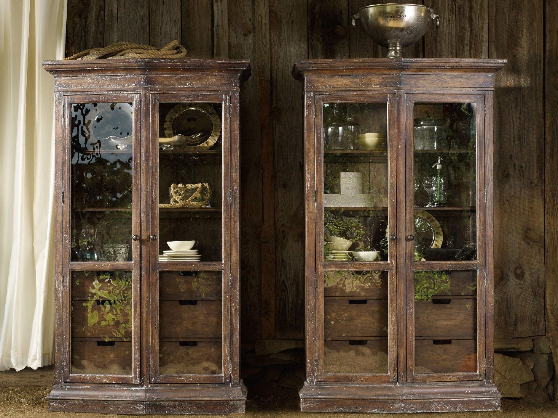 Hooker Furniture Willow Bend Dark Wood Display Cabinet