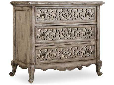 Hooker Furniture Chatelet Paris Vintage 37''W x 20''D Rectangular Fretwork Nightstand