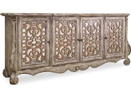 Hooker Furniture Chatelet Caramel Froth and Paris Vintage 90''L x 20''W Rectangular Credenza Buffet