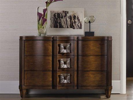 Hooker Furniture Dark Wood 49''W x 19''D Serpentine Accent Chest