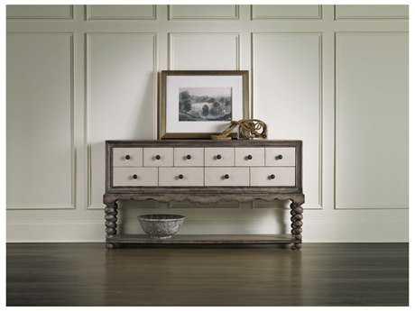 Hooker Furniture Medium Wood 64''L x 16''W Rectangular Hall Console Table
