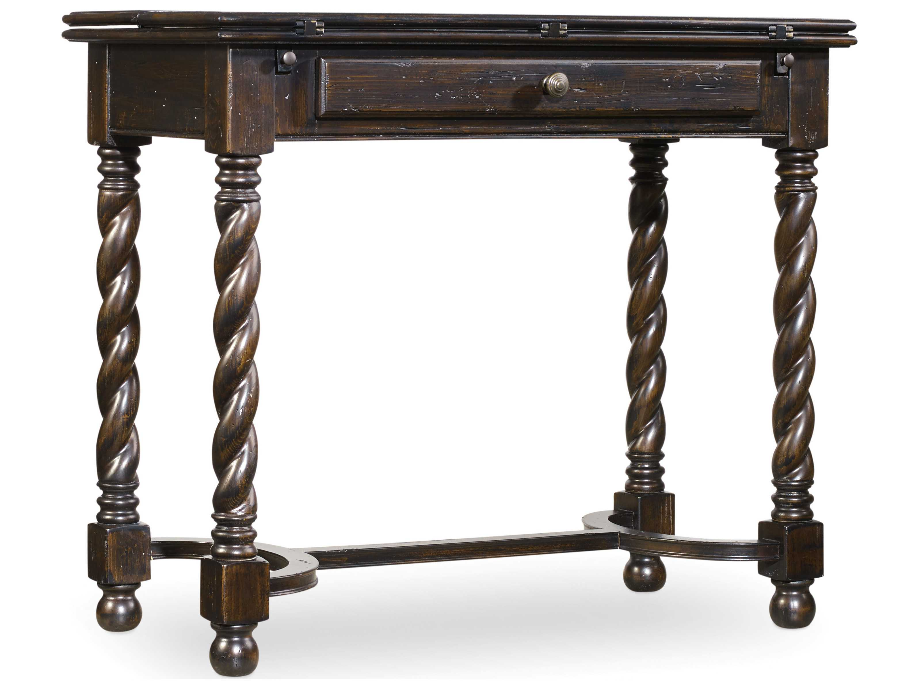 Hooker Furniture Treviso Black 36 39 39 L X 18 39 39 W Rectangular Flip Top Console Table Hoo537450002