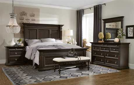 Hooker Furniture Treviso Wood Panel Bed Bedroom Set