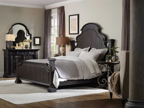 Hooker Furniture Treviso Wood Poster Bed Bedroom Set