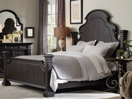 Hooker Furniture Treviso Rich Dark macchiato King Size Poster Bed