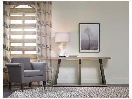 Hooker Furniture Studio 7H Light Wood 68''L x 16''W Rectangular Crisscross Console Table