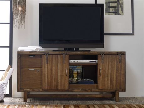 Hooker Furniture Studio 7H Rustic Chic 64.5''L x 20.5''W Rectangular Entertainment Console