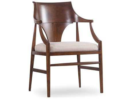 Hooker Furniture Studio 7H Medium Wood Jens Danish Dining Arm Chair