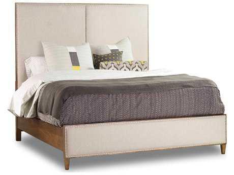 Hooker Furniture Studio 7H Low-sheen Walnut Aon Queen Size Panel Bed